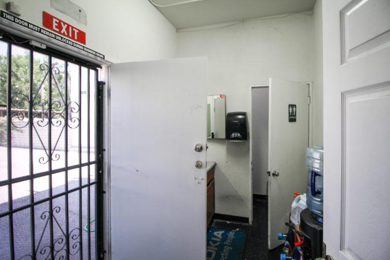 Back exit